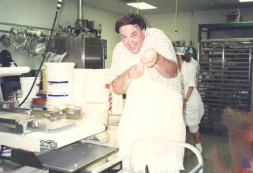 Dad in his element, 1990