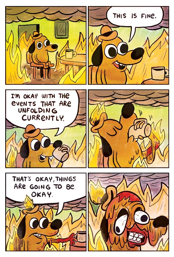 This is fine meme.